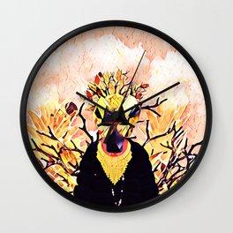 Golden sheep Wall Clock