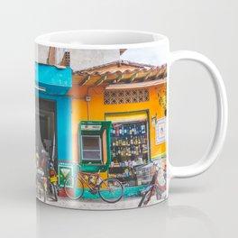 On the Street, Guatape, Colombia Coffee Mug