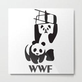 WWF Panda Chair Metal Print
