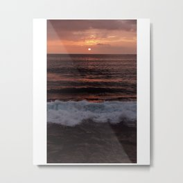 Sunsets by the beach Metal Print
