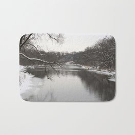 Winter on the River Bath Mat