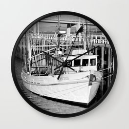 San Remo Boats Black and White Wall Clock