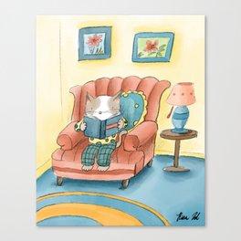 I Love Reading  Canvas Print