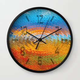 colorful vibrations Wall Clock