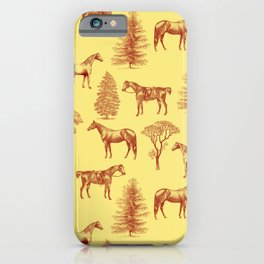HORSES IN THE FOREST  iPhone Case