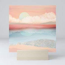 Mint Moon Beach Mini Art Print