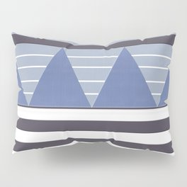 Patchy Stormy Blues Pillow Sham