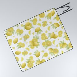 Summer Lemon Twist #1 #tropical #fruit #decor #art #society6 Picnic Blanket