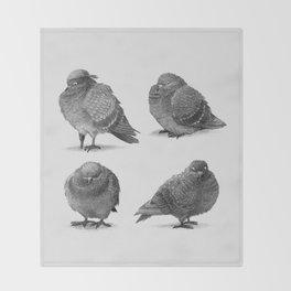Pirate Pigeon & Crew Throw Blanket