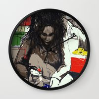basquiat Wall Clocks featuring Basquiat by Helen Syron