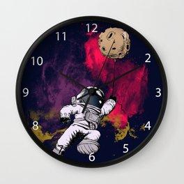 minimalist Astronaut Wall Clock