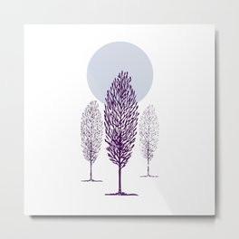 Cold Trees Metal Print