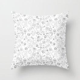 Outta Space white Throw Pillow