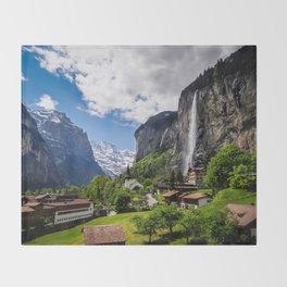 Lauterbrunnen Throw Blanket
