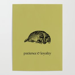 patience & loyalty (Hogwarts houses) Poster