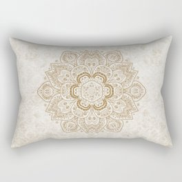 Mandala Temptation in Cream Rectangular Pillow