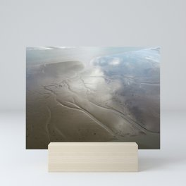 Reflections in a low tide Mini Art Print