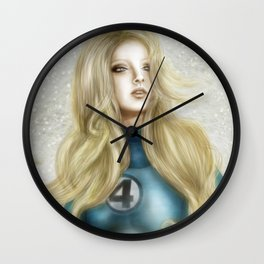 Invisible Woman v1 Wall Clock