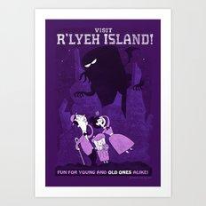 Lovecraftian Amusement Park #1: R'lyeh Island Art Print