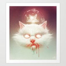 The Hell Kitty Art Print