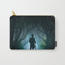 Morning visit in cold Dark Hedges Carry-All Pouch
