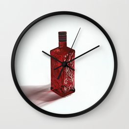 Red Glass Beefeater Gin Bottle Wall Clock