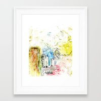 cityscape Framed Art Prints featuring Cityscape by Alyssa Leary