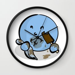 Messy Wall Clock