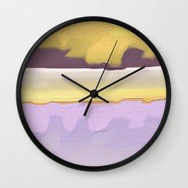 Abstract yellow Wall Clock