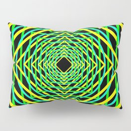 Diamonds in the Rounds Blacklight Neons Yellow Greens Pillow Sham