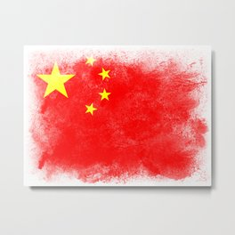 China flag isolated Metal Print