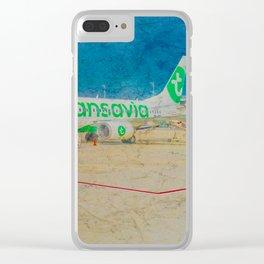 Transavia Boeing 737-300 in Munich Clear iPhone Case