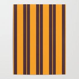 Retro Vintage Striped Pattern Poster