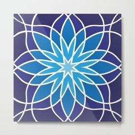 Shades of Blue | Geometric Pattern Metal Print
