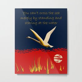 Ambition or trumpeter swan Metal Print
