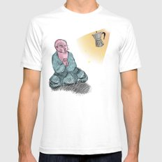 GOD GIMME THE STRENGTH SMALL Mens Fitted Tee White