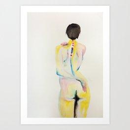 body watercolor Art Print