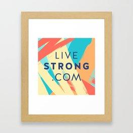 livestrong pillow Framed Art Print