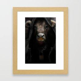 Alley Cow Framed Art Print