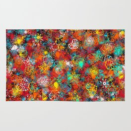 Abstract Colorful Rug