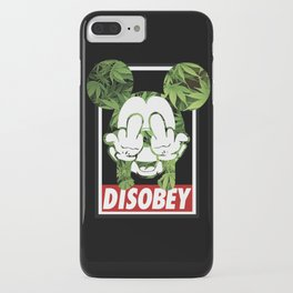 Mickey Weed Disobey  iPhone Case