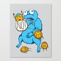 cookies Canvas Prints featuring Cookies by MOONGUTS (Kyle Coughlin)
