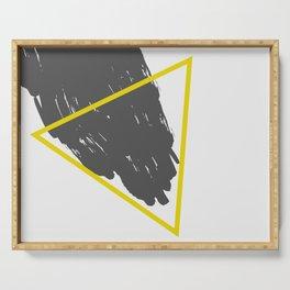 Golden Triangular Piece Serving Tray