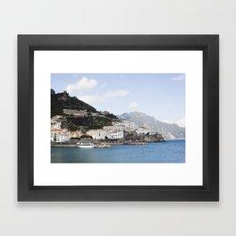 Amafi Coast Italy Framed Art Print