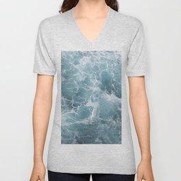 White water waves Unisex V-Neck