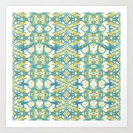 Colored Geometric Ornate Patterned Print Art Print