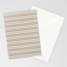 Beige Stripes Stationery Cards