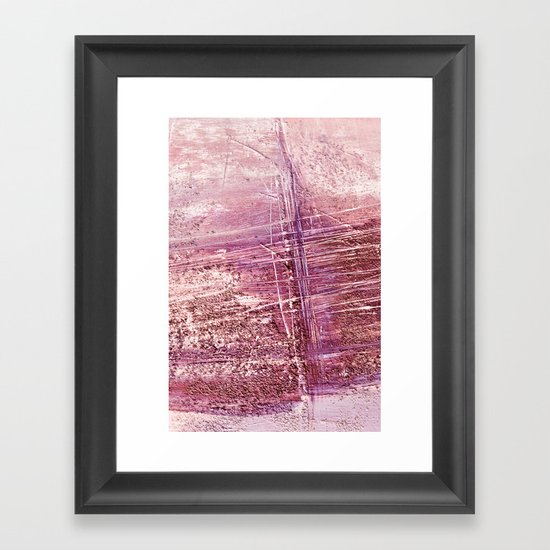 dusty pink abstract Framed Art Print