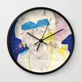 flip shades in space Wall Clock