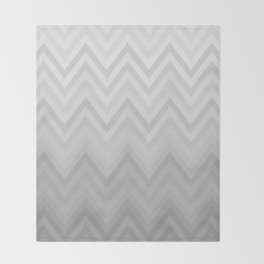 Chevron Fade Grey Throw Blanket